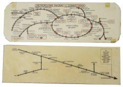 A 1920s Metropolitan Railway carriage map