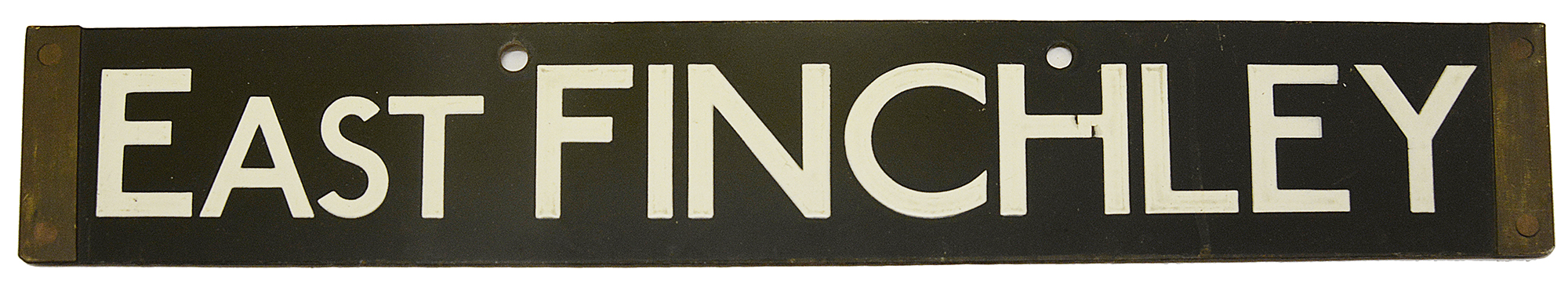 A London Underground Standard Tube Stock enamel cab destination plate - Image 3 of 3