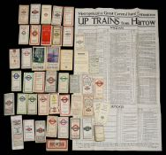 A collection of late 19th to mid-20th century folding maps and guides covering a rage of transport,