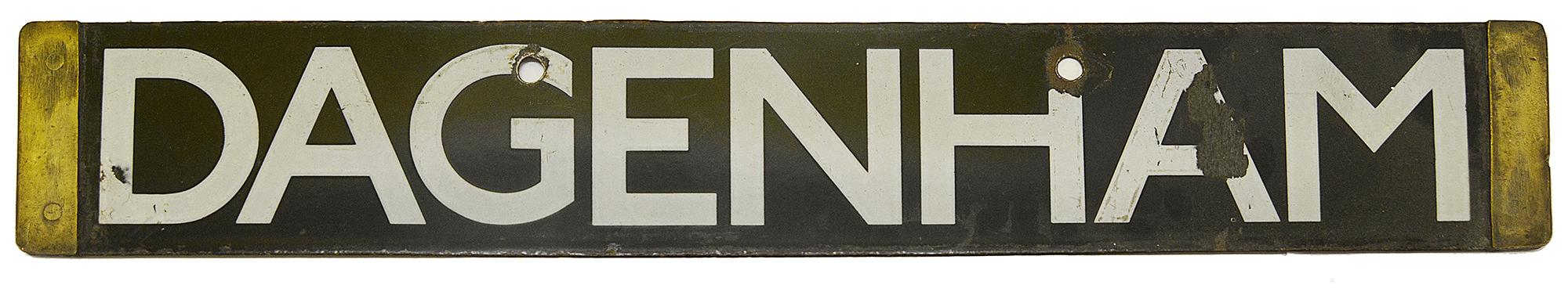 A London Underground Q Stock enamel cab destination plate - Image 3 of 3
