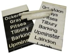 A bundle (9) of modern destination blinds