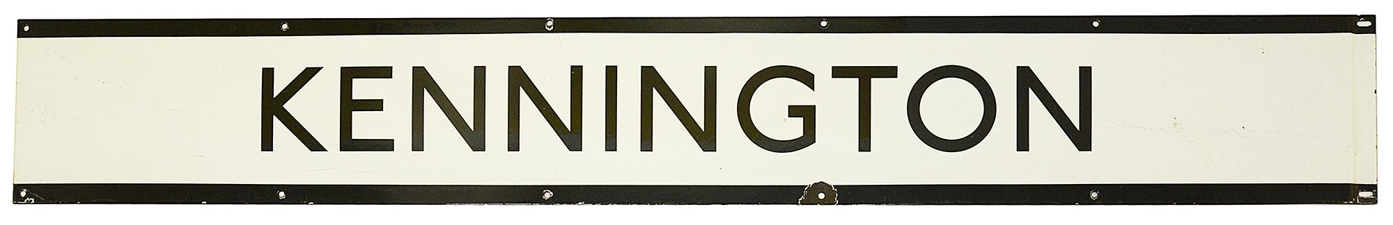 A London Underground enamel station frieze sign for Kennington