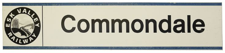 An Esk Valley Railway station sign for Commondale,