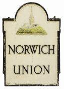 A Norwich Union cast iron sign