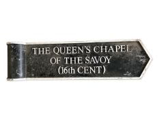 Pole sign for 'The Queen's Chapel of the Savoy (16th Cent)'