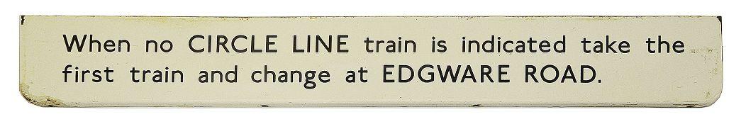 A London Underground enamel sign