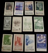 A collection of early 20th century London County Council Trams maps