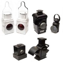A group of British Railway and other signal lamps and lanterns