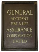 A General Accident Fire & Life Assurance Corporation and an Agency County Fire Office Ltd sign,