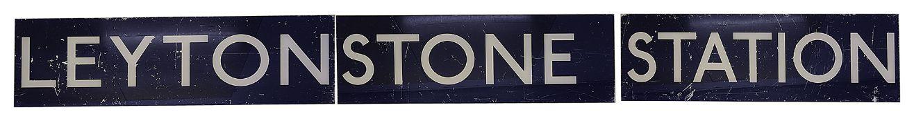 A London Underground sign displaying 'LEYTONSTONE STATION'