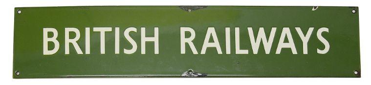 A BR(S) enamel sign for BRITISH RAILWAYS