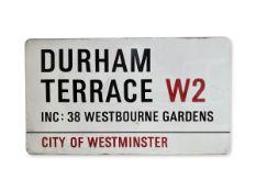 Durham Terrace Inc: 38 Westbourne Gardens W2