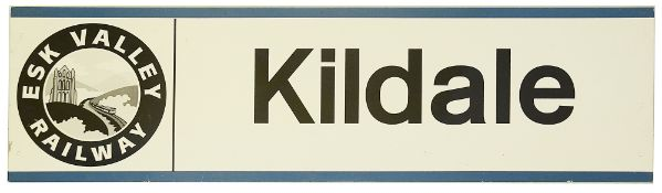 An Esk Valley Railway station sign for Kildale