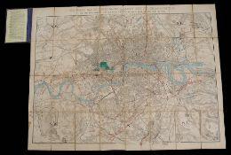 Stanford's Map of Metropolitan Railways, Bridges, Embankments &c., 1863,
