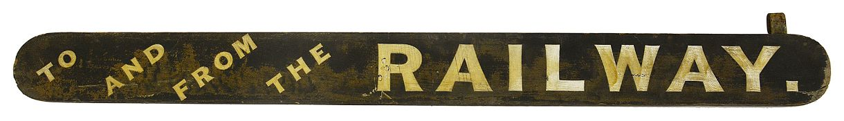 An early 20th century wooden painted direction sign