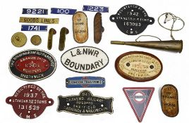A quantity of railway related objects,