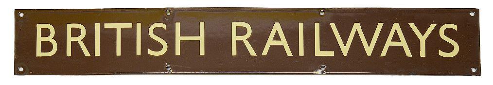 A BR(W) enamel sign for BRITISH RAILWAYS