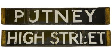 A London Underground Q Stock enamel cab destination plate