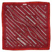 An Hermes silk scarf 'Chaines et gourmette'