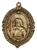 Silver-gilt military reward badge by Thomas Rawlins, 1642