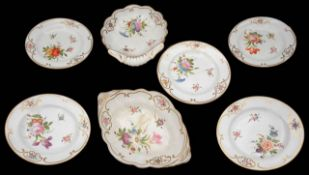 An early 19th century English porcelain dessert service c.1820