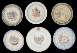 A collection of cycling related ceramics,