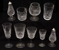 A Waterford crystal Lismore pattern suite of glasses for six
