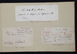 Royal Interest. An album containing a mid-19th c. collection of autographs