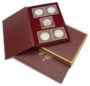 Cayman Islands 1980 Silver Kings Collection set of ten silver proof 25 dollar coins
