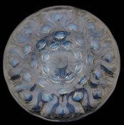 A RenŽ Lalique Bulbes No2. design opalescent glass plate
