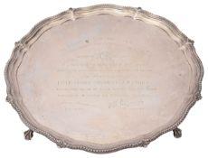 A late Victorian silver salver