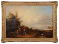 Follower of William Shayer (Brit., 1787-1879) Landscape, oil on canvas