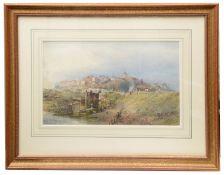 Josiah Wood Whymper (Brit., 1813-1903) 'Landscape with bridge', watercolour