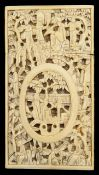 A 19th century Chinese Cantonese ivory card case,