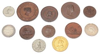 A collection of 19th century prize medals