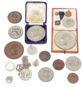 A collection of 19th c. mostly Royal commemorative medals and medallions