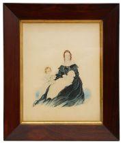 19th c. English school c.1840 Portrait, watercolour