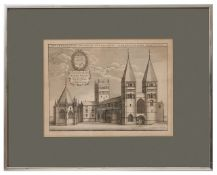 Two early copper engravings depicting Southwell Minster,
