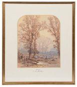 H. Ward, (Brit., 19th c.), 'Moonlight, near the Long Walk, Windsor', watercolour