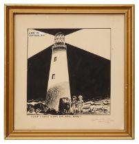 Stanley Arthur Franklin (Brit., 1930-2004) a cartoon in pen, ink and applied paper on board
