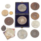A collection of 19th century exhibition medals and medallions