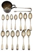 A mixed lot of George III silver to include teaspoons