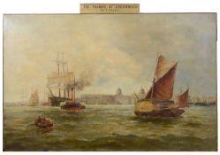Attrib. F. James (19th c., English School) oil, unsigned