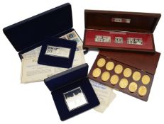 Four cases of commemorative proof silver ingots