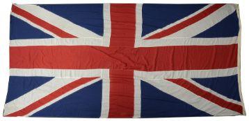 A large vintage Union Jack flag