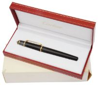 Cartier, Diabolo de Cartier black fountain pen