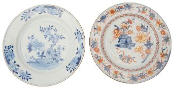 Two 18th century Chinese export porcelain plates