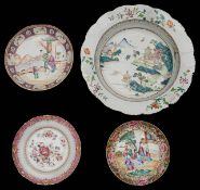 A selection of 18th century famille rose export ware