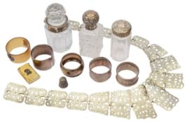A mixed lot of silver and other items
