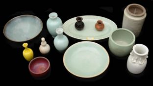A small collection of Chinese monochrome glazed ceramics